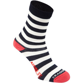 Craghoppers NosiLife Travel Socken Twin Pack Kinder soft navy/watermelon plain & stripe